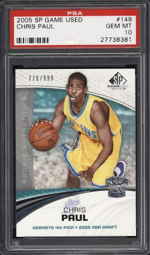 Image of: 2005 SP Game Used Chris Paul ROOKIE RC /999 #149 PSA 10 GEM MINT (PWCC)