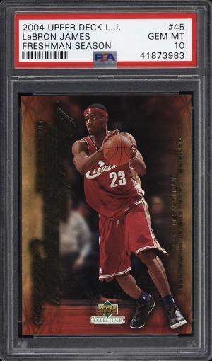 Image of: 2004 Upper Deck LJ Freshman Season LeBron James #45 PSA 10 GEM MINT (PWCC)
