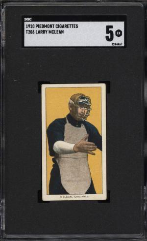 Image of: 1909-11 T206 Larry McLean SGC 5 EX (PWCC)