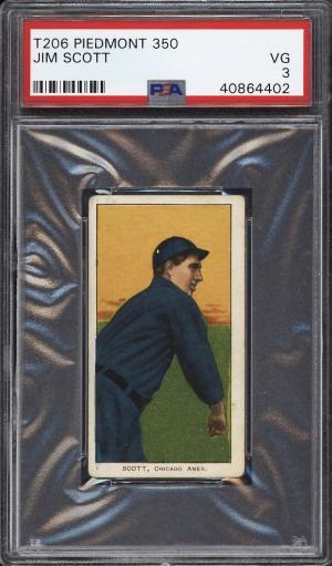 Image of: 1909-11 T206 Jim Scott PSA 3 VG (PWCC)