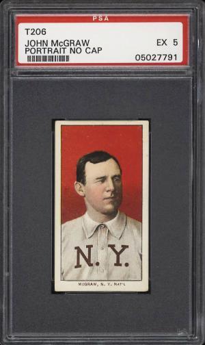 Image of: 1909-11 T206 John McGraw PORTRAIT, NO CAP PSA 5 EX (PWCC)
