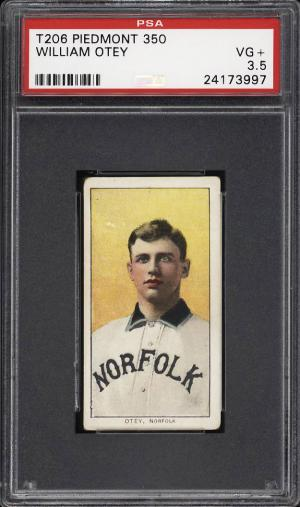 Image of: 1909-11 T206 William Otey SOUTHERN LEAGUER PSA 3.5 VG+ (PWCC)