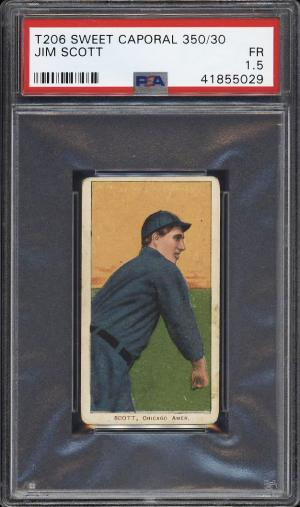 Image of: 1909-11 T206 Jim Scott PSA 1.5 FR (PWCC)