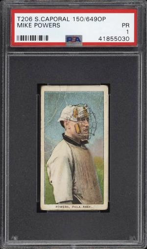 Image of: 1909-11 T206 Mike Powers PSA 1 PR (PWCC)