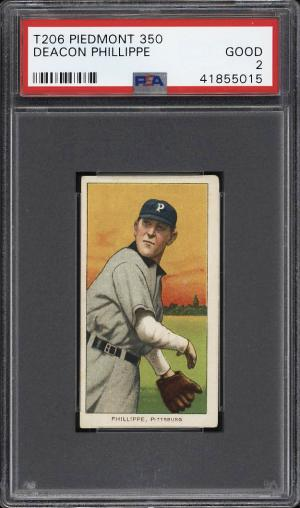 Image of: 1909-11 T206 Deacon Phillippe PSA 2 GD (PWCC)