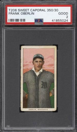 Image of: 1909-11 T206 Frank Oberlin PSA 2 GD (PWCC)