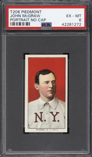 Image of: 1909-11 T206 John McGraw PORTRAIT, NO CAP PSA 6 EXMT (PWCC)
