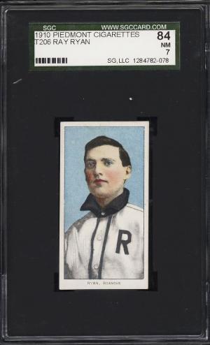 Image of: 1909-11 T206 Ray Ryan SOUTHERN LEAGUER SGC 7 NRMT (PWCC)