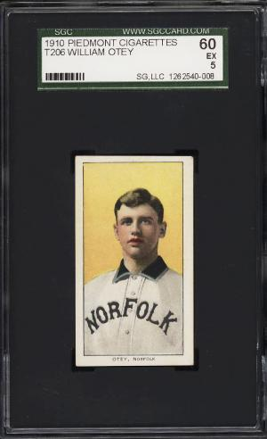 Image of: 1909-11 T206 William Otey SOUTHERN LEAGUER SGC 5 EX (PWCC)