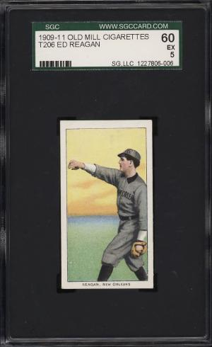 Image of: 1909-11 T206 Ed Reagan SOUTHERN LEAGUER, OLD MILL SGC 5 EX (PWCC)