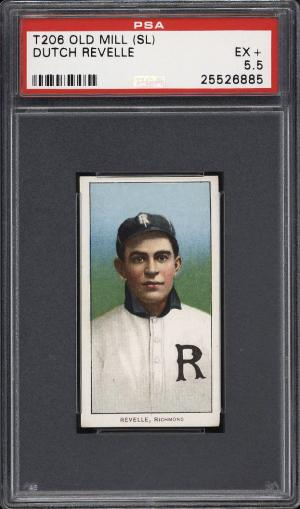 Image of: 1909-11 T206 Dutch Revelle SOUTHERN LEAGUER, OLD MILL PSA 5.5 EX+ (PWCC)
