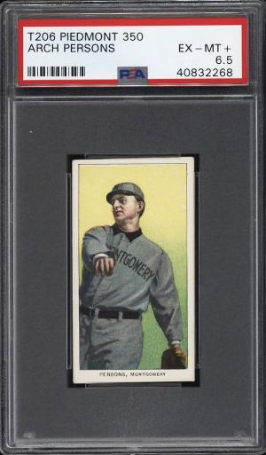 Image of: 1909-11 T206 Arch Persons SOUTHERN LEAGUER PSA 6.5 EXMT+ (PWCC)