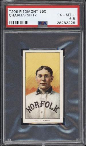 Image of: 1909-11 T206 Charles Seitz SOUTHERN LEAGUER PSA 6.5 EXMT+ (PWCC-PQ)