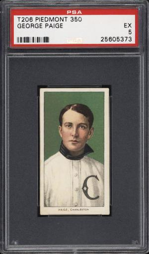 Image of: 1909-11 T206 George Paige SOUTHERN LEAGUER PSA 5 EX (PWCC)