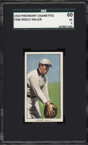 Image of: 1909-11 T206 Molly Miller SOUTHERN LEAGUER SGC 5 EX (PWCC)