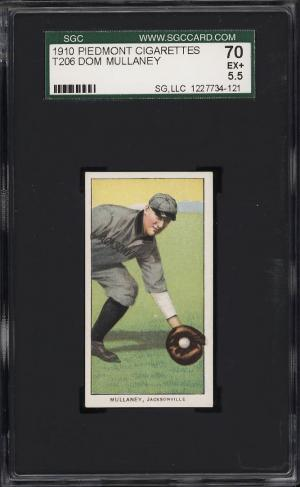 Image of: 1909-11 T206 Dom Mullaney SOUTHERN LEAGUER SGC 5.5 EX+ (PWCC)