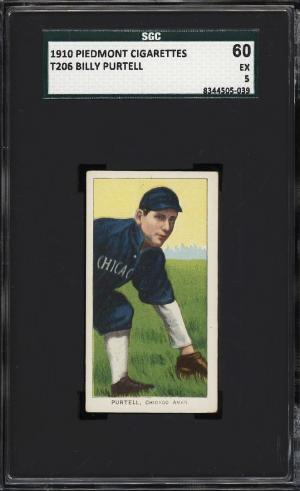 Image of: 1909-11 T206 Billy Purtell SGC 5 EX (PWCC)