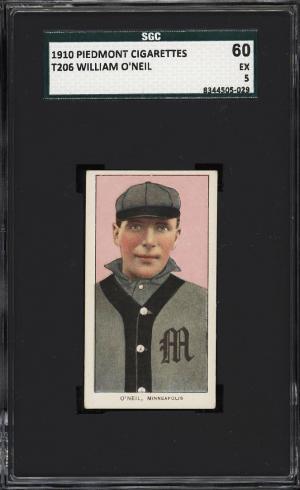 Image of: 1909-11 T206 William O'Neil SGC 5 EX (PWCC)