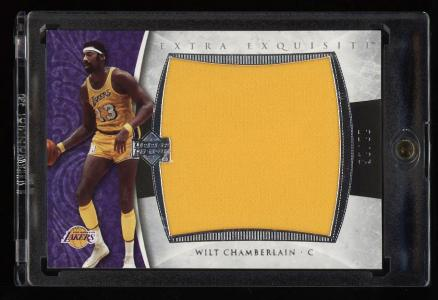 Image of: 2006 Exquisite Collection Extra Wilt Chamberlain JERSEY /25 #EX-WC (PWCC)