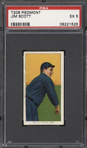 Image of: 1909-11 T206 Jim Scott PSA 5 EX (PWCC)