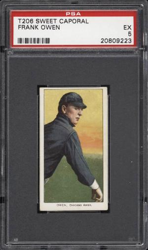 Image of: 1909-11 T206 Frank Owen PSA 5 EX (PWCC)