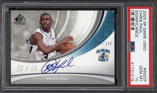 Image of: 2005 SP Game Used Significance Chris Paul ROOKIE RC AUTO /100 PSA 10 GEM (PWCC)