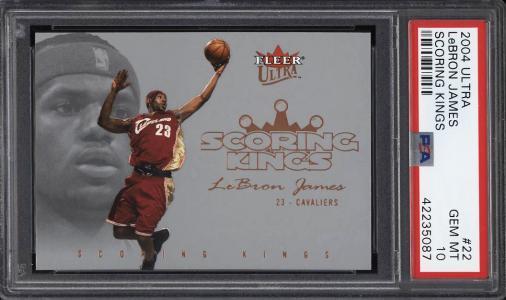 Image of: 2004 Ultra Scoring Kings LeBron James #22 PSA 10 GEM MINT (PWCC)