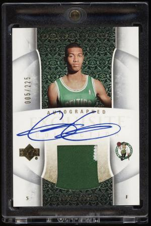 Image of: 2005 Exquisite Collection Gerald Green RC AUTO PATCH 5/225 JERSEY NUMBER(PWCC)