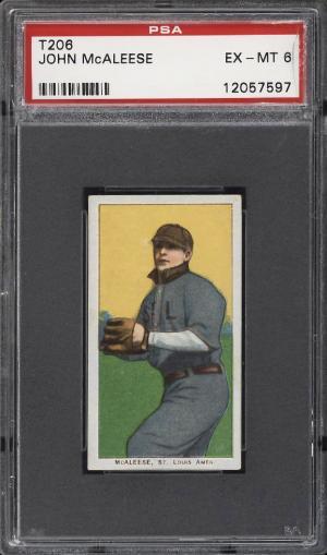 Image of: 1909-11 T206 John McAleese PSA 6 EXMT (PWCC)