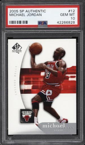 Image of: 2005 SP Authentic Michael Jordan #12 PSA 10 GEM MINT (PWCC)