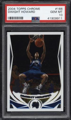 Image of: 2004 Topps Chrome Dwight Howard ROOKIE RC #166 PSA 10 GEM MINT (PWCC)