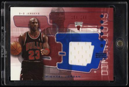 Image of: 2004 Upper Deck 3-D Triple Dimensions Michael Jordan PATCH /249 #3DJ36 (PWCC)