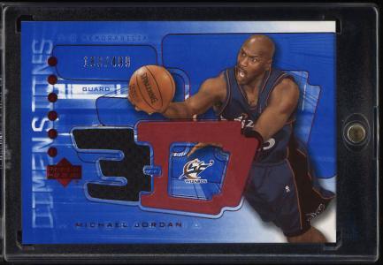 Image of: 2004 Upper Deck 3-D Triple Dimensions Michael Jordan PATCH /499 #3DS36 (PWCC)