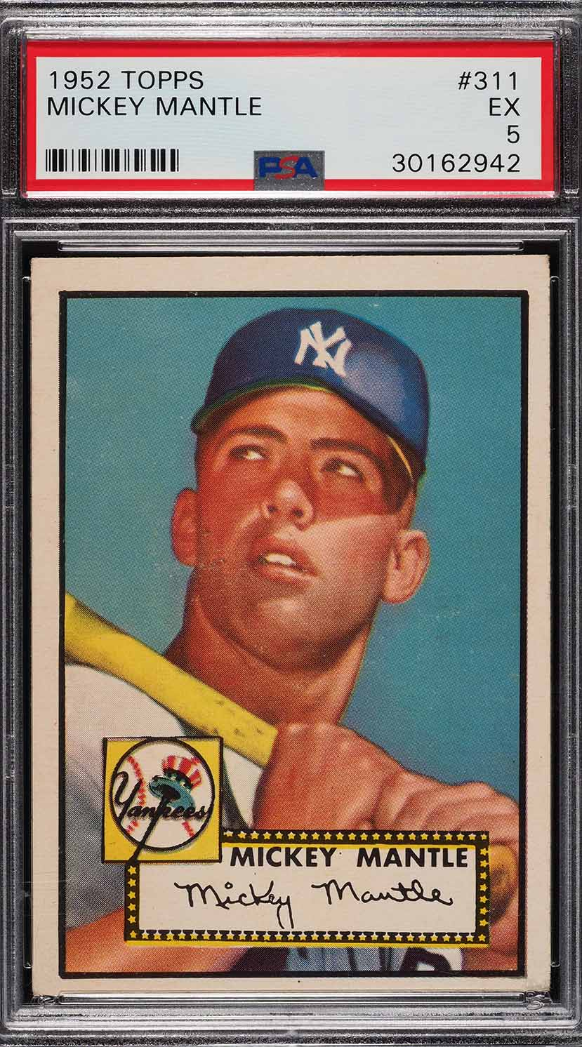 Image of: 1952 Topps Mickey Mantle #311 PSA 5 EX (PWCC)