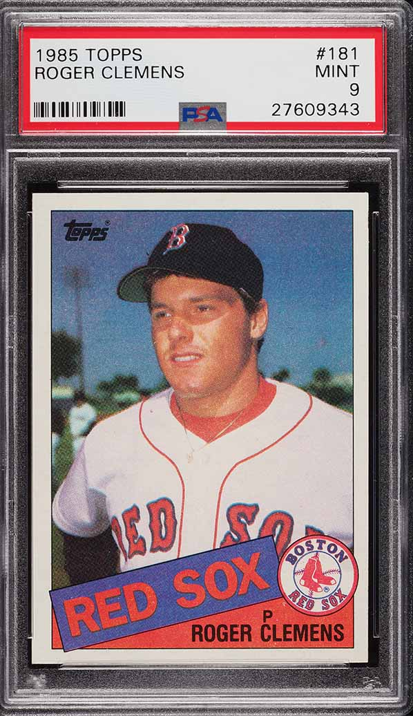 Image of: 1985 Topps Roger Clemens ROOKIE RC #181 PSA 9 MINT (PWCC)