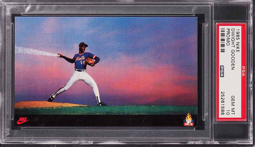 Image of: 1985 Nike Promo Dwight Gooden ROOKIE RC PSA 10 GEM MINT (PWCC)