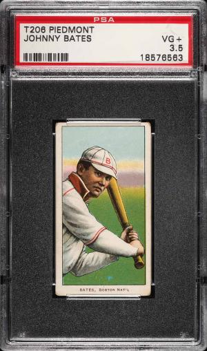 Image of: 1909-11 T206 Johnny Bates PSA 3.5 VG+ (PWCC)