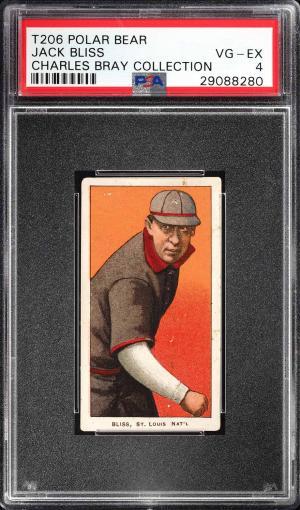 Image of: 1909-11 T206 Jack Bliss POLAR BEAR PSA 4 VGEX (PWCC)