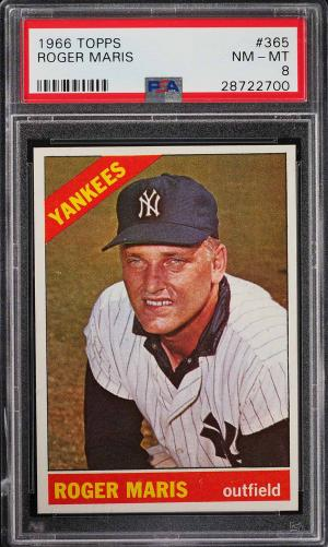 Image of: 1966 Topps Roger Maris #365 PSA 8 NM-MT (PWCC)