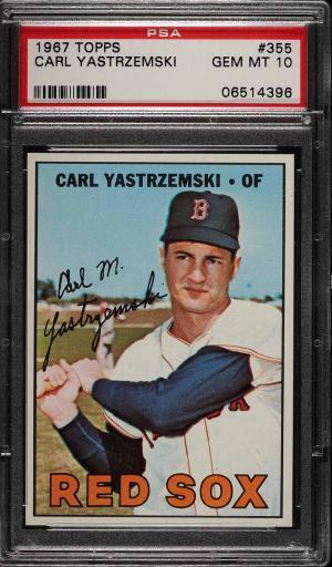 Image of: 1967 Topps Carl Yastrzemski #355 PSA 10 GEM MINT (PWCC)