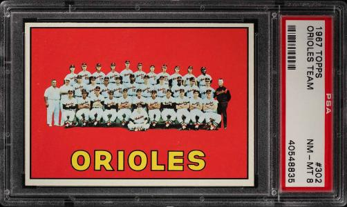 Image of: 1967 Topps Orioles Team #302 PSA 8 NM-MT (PWCC)