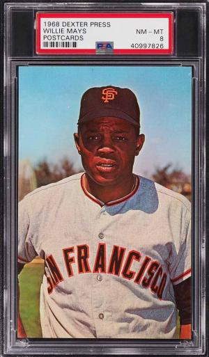 Image of: 1968 Dexter Press Postcards Willie Mays PSA 8 NM-MT (PWCC)