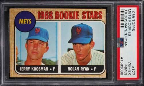Image of: 1968 Topps Nolan Ryan ROOKIE RC #177 PSA 4(mc) VGEX (PWCC)