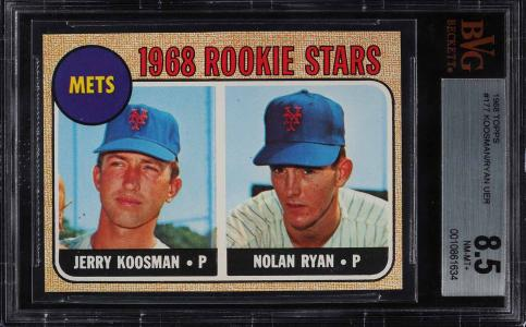 Image of: 1968 Topps Nolan Ryan ROOKIE RC #177 BVG 8.5 NM-MT+ (PWCC)