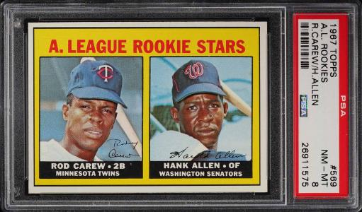 Image of: 1967 Topps Rod Carew ROOKIE RC #569 PSA 8 NM-MT (PWCC)