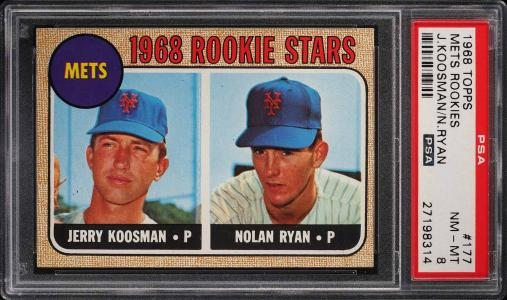 Image of: 1968 Topps Nolan Ryan ROOKIE RC #177 PSA 8 NM-MT (PWCC)