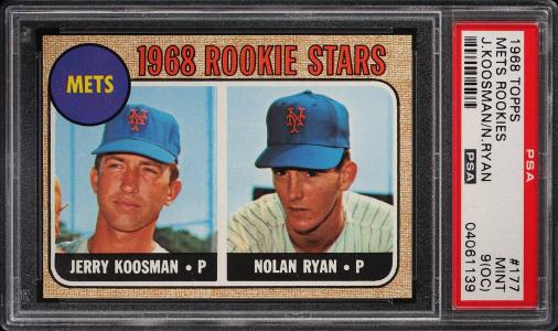 Image of: 1968 Topps Nolan Ryan ROOKIE RC #177 PSA 9(oc) MINT (PWCC)
