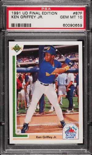 7ada1d3006 Image of: 1991 Upper Deck Final Edition Ken Griffey Jr. #87F PSA 10