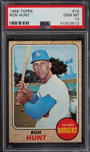 Image of: 1968 Topps Ron Hunt #15 PSA 10 GEM MINT (PWCC)