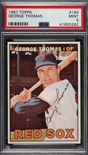 Image of: 1967 Topps George Thomas #184 PSA 9 MINT (PWCC)